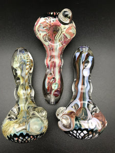 Rotational Science Glass Large Old School Assorted Colors Pipe