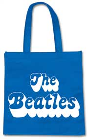 The Beatles 70s Logo Blue Tote Bag