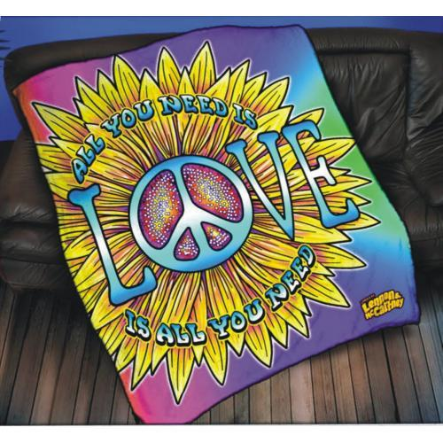 The Beatles All You Need Is Love Fleece Blanket