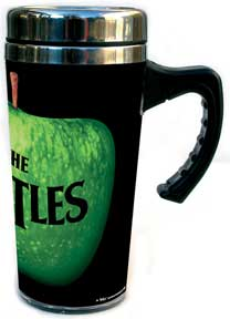 The Beatles Green Apple Logo Travel Coffee Mug