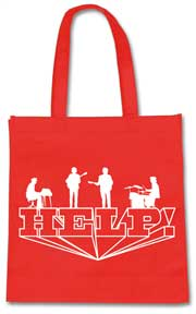The Beatles Help! Red Tote Bag