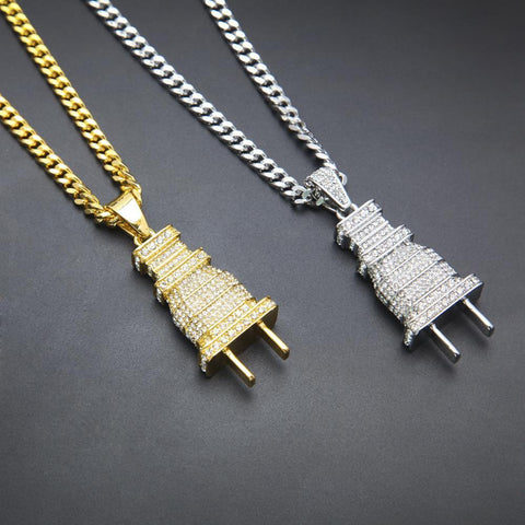 FREE Iced Out 18K Plug Pendant Offer