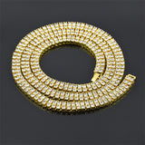 Gold Two-Row 7mm 24 Inch Tennis Chain