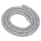 White Gold Two-Row 7mm 24 Inch Tennis Chain - Urban Jewellers
