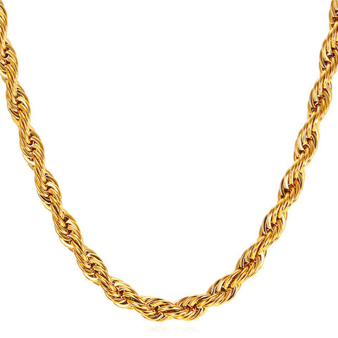 FREE 18K Gold Stainless Steel Rope Chain Offer