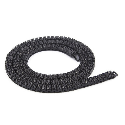 Black Two-Row 7mm 24 Inch Tennis Chain