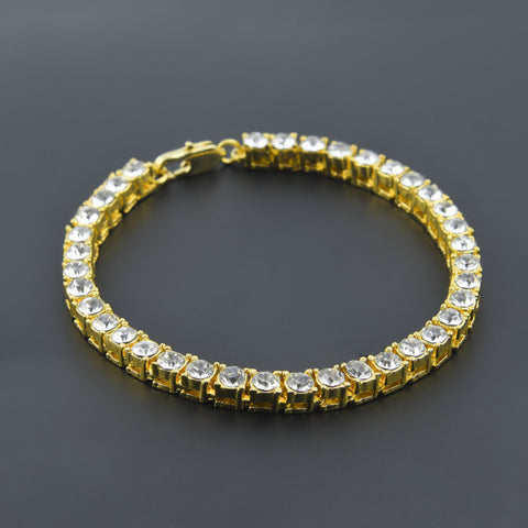 FREE CZ Diamond Iced 18K Gold Tennis Bracelet Offer