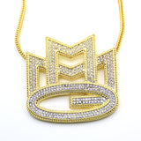 Luxury Fully Iced Out 18K MMG Pendant + Chain Bundle