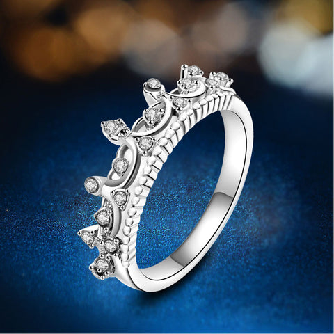 Studded Crown Ring - Rosegold / Silver