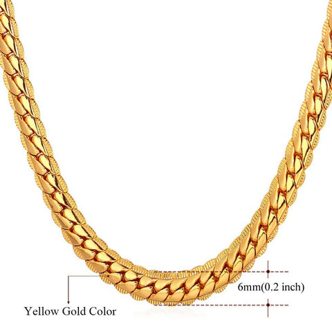 Gold Franco Chain 9MM / 6MM