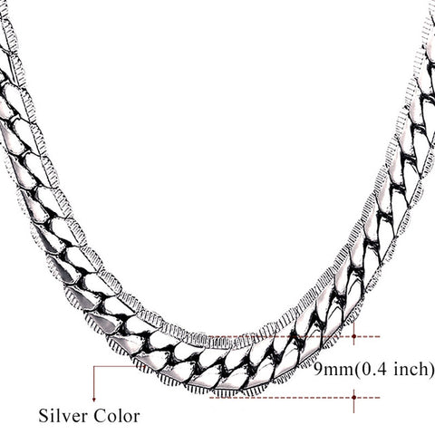 Silver Franco Chain 9MM / 6MM