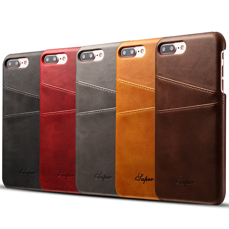Luxury Leather Wallet Case For iPhone with Card Holder Back Cover