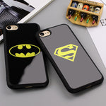 Batman Superman Phone Cover for iPhone 7 6 6s Plus 5 5s SE Cases Silicone Mirror Case for iPhone 6 6s 7 Plus Phone Shell