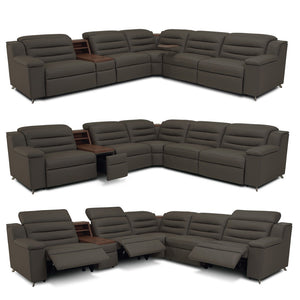 Larsen Sectional - Full Leather