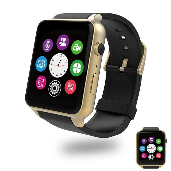 Bluetooth Smart Watch with Dual Card Slot and HD Camera,Evershop SIM Card Smart Watches with Heart Rate Monitor Touch Screen Bluetooth Sports Wrist Watch Phone for Android and IOS (Glod)