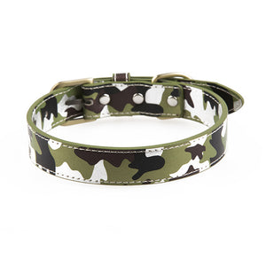 Premium Leather Army Camo Dog Collar | My Doggy & Me