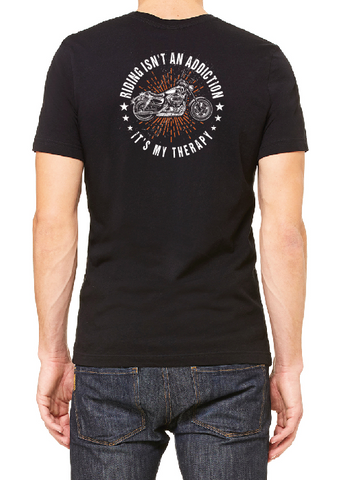 Riding Isn't an Addiction, It's My Therapy Men's Pocket T-shirt