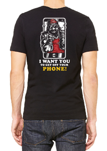 I Want You to Get Off Your Phone Men's Pocket T-shirt
