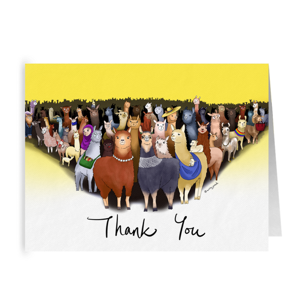 Llama Herd - Thank You Cards