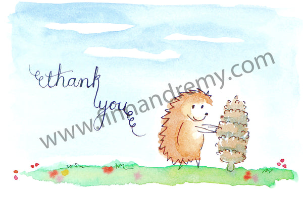 "Pinecone 'Hog Says ""Thank You"""