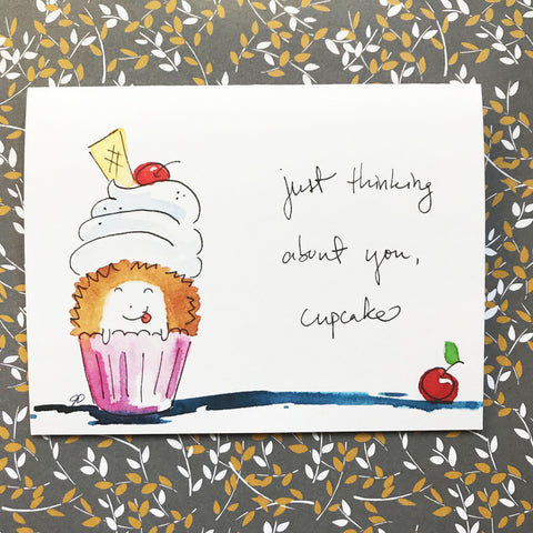 Thinking about you, cupcake