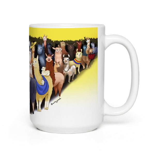 Llama Herd - BIG 15 oz Mug (US ONLY)
