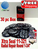 Xtra Seal 11-321 Medium Round Universal Repair Radial Tire Patch 30 pc 1-3/4""