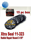 Xtra Seal TI733 Large Round Universal Repair Radial Tire Patch 15 pc 3-1/8""