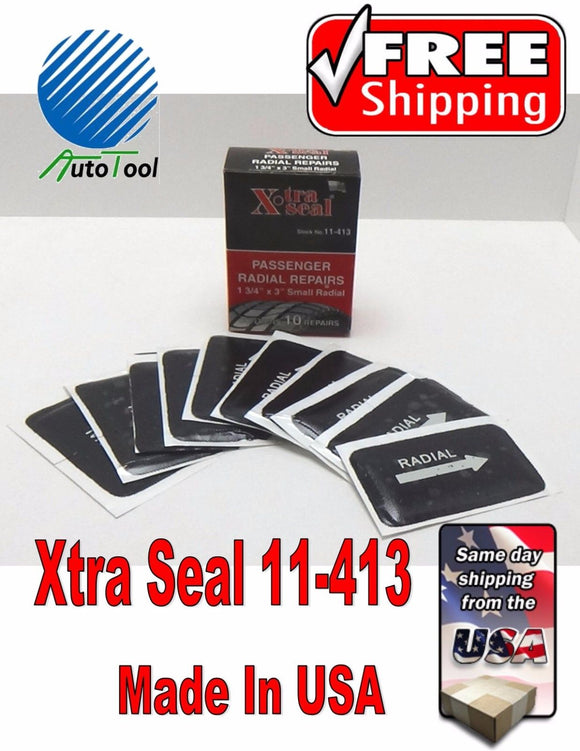 XTRA SEAL 11-413 Square Booth Radial Tire Repair Patch 1-3/4