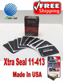 "XTRA SEAL 11-413 Square Booth Radial Tire Repair Patch 1-3/4"" x 3"" Box of 10"