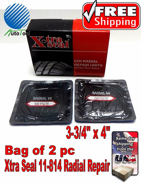 XTRA SEAL 11-814 Square Booth Radial Tire Repair Patch  3-3/4