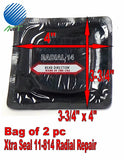 "XTRA SEAL 11-814 Square Booth Radial Tire Repair Patch  3-3/4"" x 4"" Bag of 2"