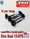 Xtra Seal 5 pc Lead-Wire Small Combination Tire Plug Patch Repair 31 inc 13-670