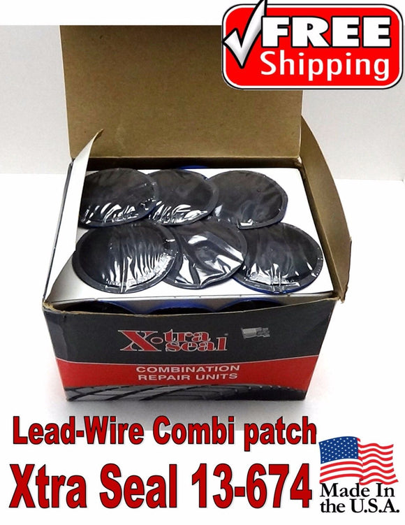 Xtra Seal Lead-Wire Medium Combination Tire Plug Patch Repair 31 inc 13-674