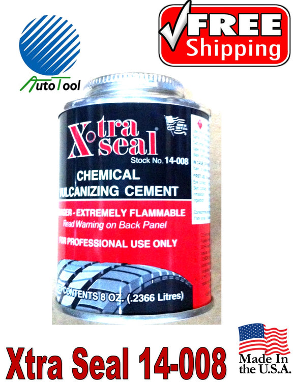 Vulcanizing Glue Cement for COLD Patch 240 cc, 8 Oz Xtra Seal Made In USA
