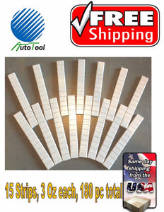 WHEEL WEIGHTS STICK-ON ADHESIVE TAPE WEIGHT | 1/4 OZ (0.25) | 45 OZ 180 PIECES