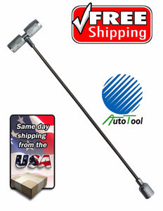 "Tire Valve Stem & Core Install Tool Cable / Fishing Type Puller 8"" Deflator tool"