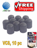 10 PLASTIC BLACK Tire/Wheel Valve Cap for Car-Truck-Hot Rod VC8