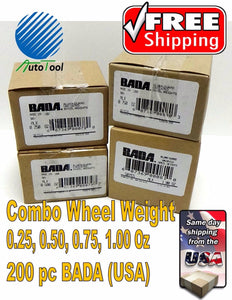 WHEEL WEIGHTS FOR STEEL RIMS 0.25, 0.50, 0.75, 1.00 Oz, 50 pc each 200 pc Total