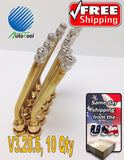 10 pk 115MS-27 1-5/8 Brass Truck Tire Valve Stem Steel Wheels V3.20.6 hole 9.7mm