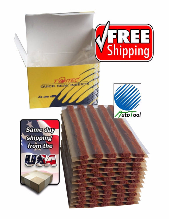 (60) Box of 60 Brown String Tire Repair Plug Inserts