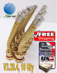10 pk 90MS-27 1-5/8 Brass Truck Tire Valve Stem Steel Wheels V3.20.4 hole 9.7mm