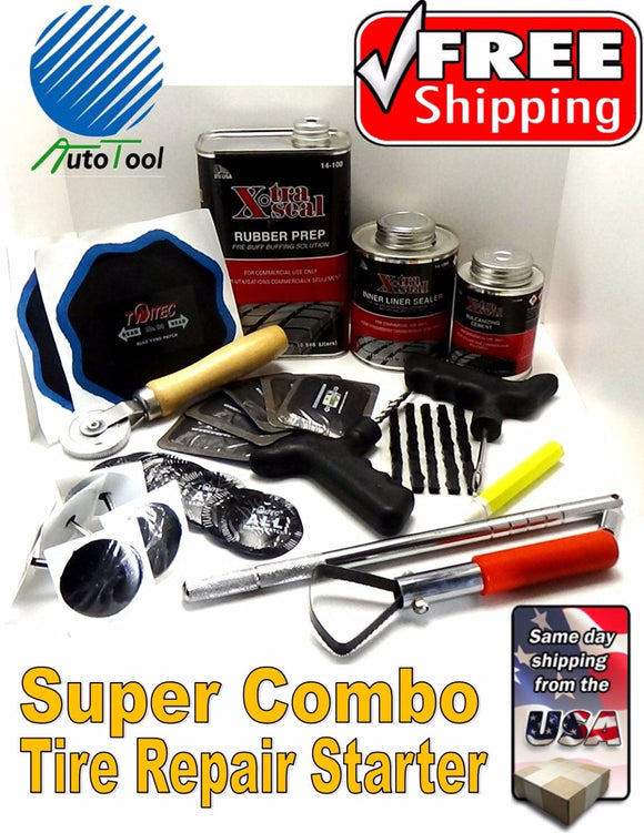 Xtra Seal/Autotool Tire Repair Complete Combi Kit Tire Repair combo starter