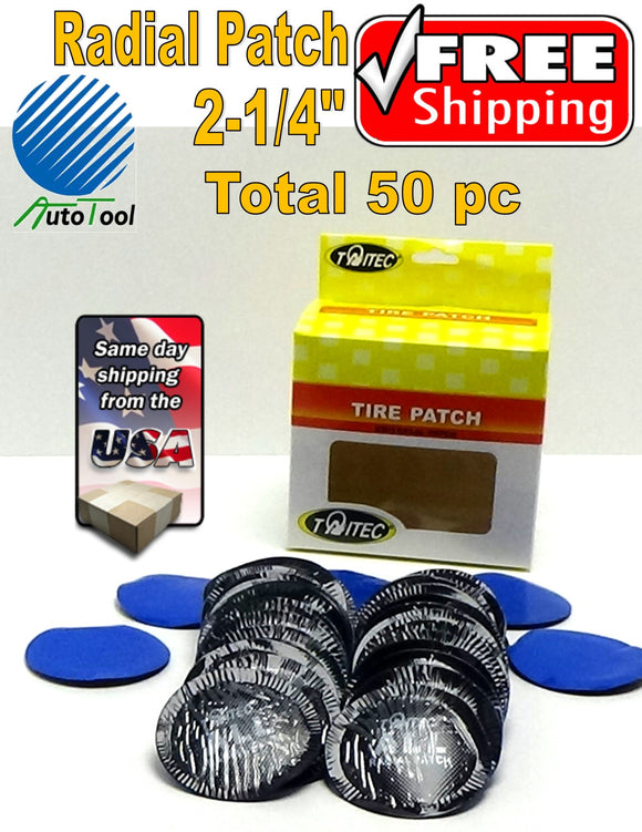 (50) pc 2-1/4in Medium Round USA Style Universal Repair Tube Radial Tire Patch