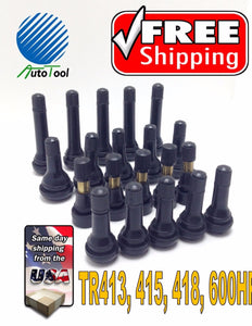 20 qty Tire Valve Stem Assortment, Standard and Large Bore TR 413 415 418 600HP