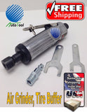 1/4 In AIR DIE GRINDER, 22000 RPM PNEUMATIC POLISHER NEW TIRE BUFFING PATCH