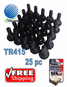 "(25) TR 415 Snap-In Tire Valve Stem 1 1/4"" - .625"" Valve Hole TR415 Short, fat"