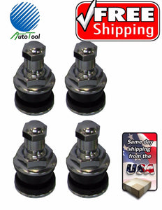 TR416B Nickle Plated Enkei Style Metal Valve Stems-SET OF 4