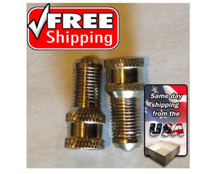 "(2) Double Seal Cap, 7/8"" long, chrome extension for truck valve"