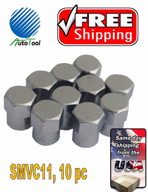 10 Metal Chrome ENKEI Tire/Wheel Valve Cap for Car-Truck-Hot Rod SMVC11